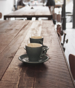 Coffee on a table